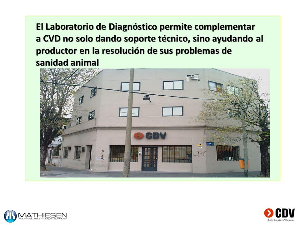 El Laboratorio de Diagnóstico permite complementar a CVD no solo dando soporte técnico, sino ayudando al productor en la resolución de sus problemas d