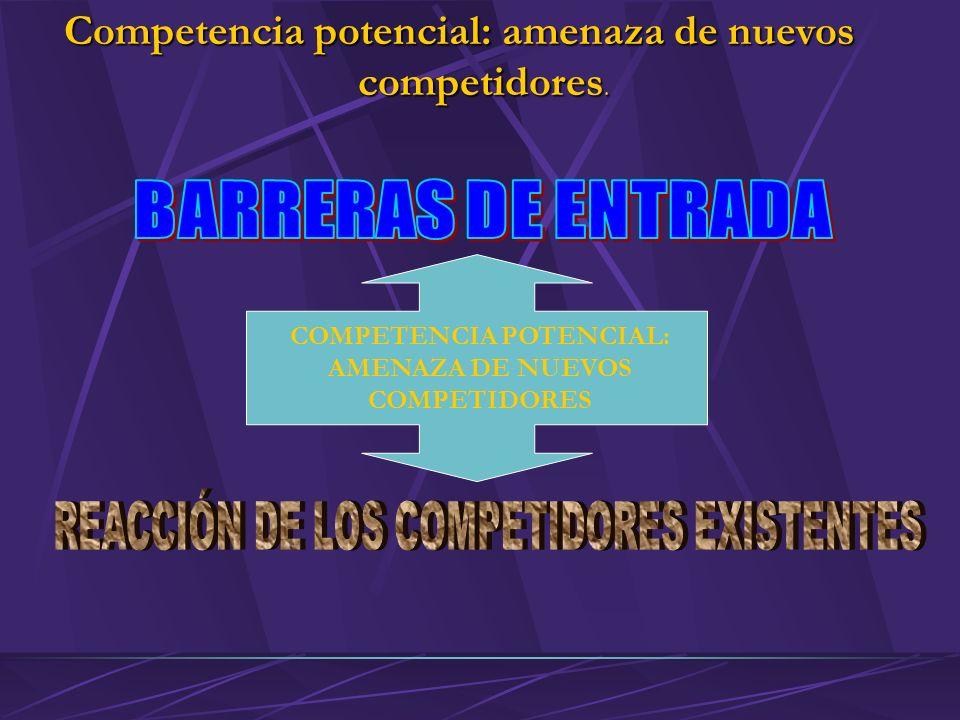 Competencia potencial: amenaza de nuevos competidores.