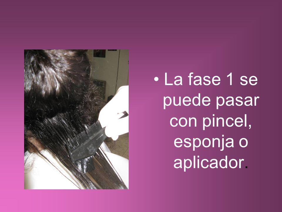 La fase 1 se puede pasar con pincel, esponja o aplicador.