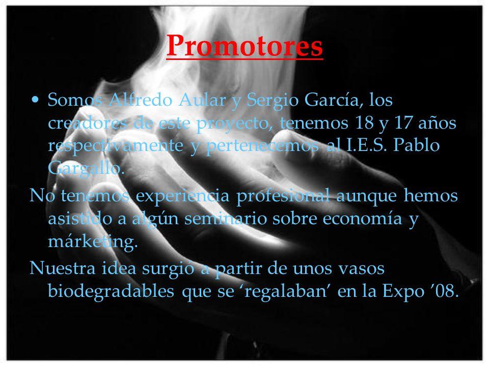 Promotores Somos Alfredo Aular y Sergio García, los creadores de este proyecto, tenemos 18 y 17 años respectivamente y pertenecemos al I.E.S. Pablo Ga