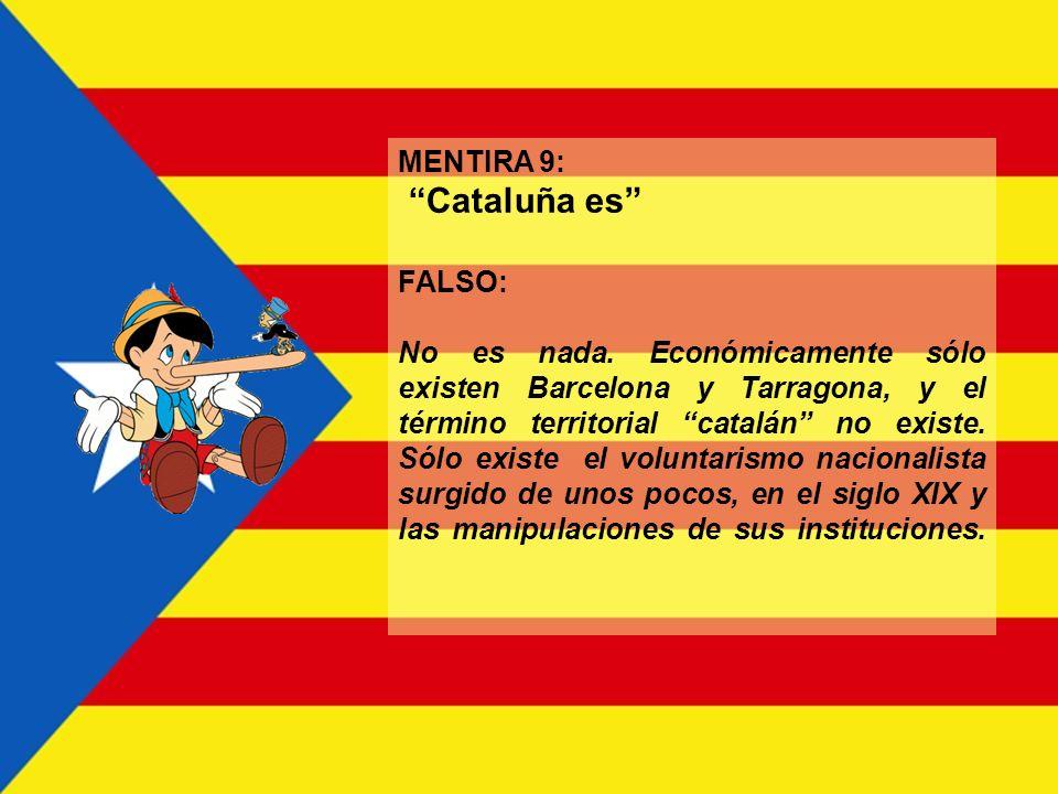 MENTIRA 8: ¿Es democrático para el resto de España? FALSO: No. Cataluña ha disfrutado de una posición de privilegio que ha impedido que otras regiones