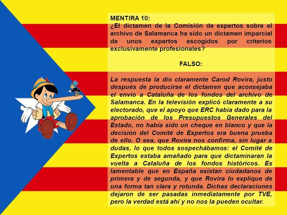 MENTIRA 9: Cataluña es FALSO: No es nada. Económicamente sólo existen Barcelona y Tarragona, y el término territorial catalán no existe. Sólo existe e
