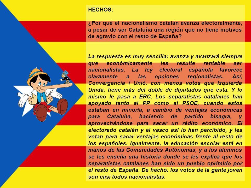 HECHOS: ¿Cuál es el objetivo final del nacionalismo catalán ? El objetivo final es conseguir el mayor grado de independencia política. Incluso formand