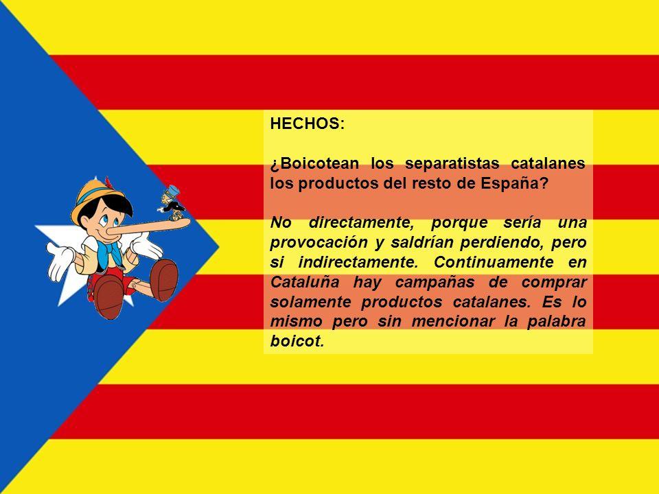 HECHOS: ¿Por qué el nacionalismo catalán avanza electoralmente, a pesar de ser Cataluña una región que no tiene motivos de agravio con el resto de Esp