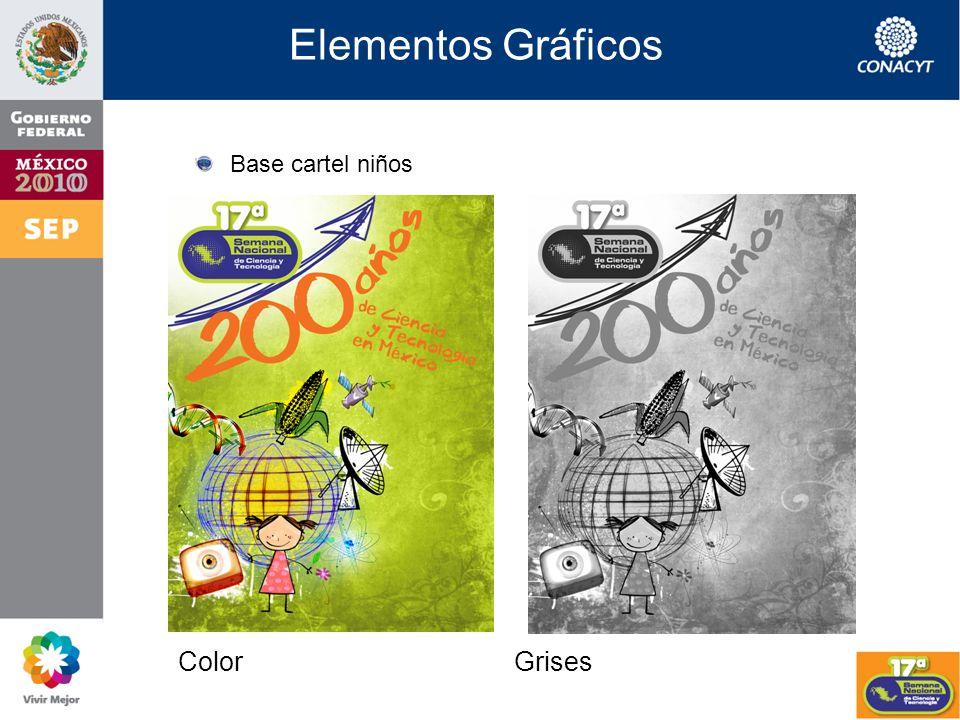 Elementos Gráficos Base cartel chavos ColorGrises
