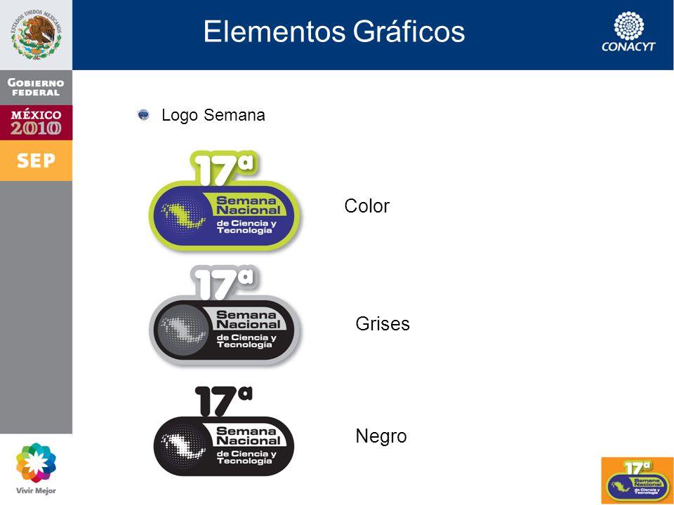 Elementos Gráficos Logotipos Institucionales Color Grises Negro