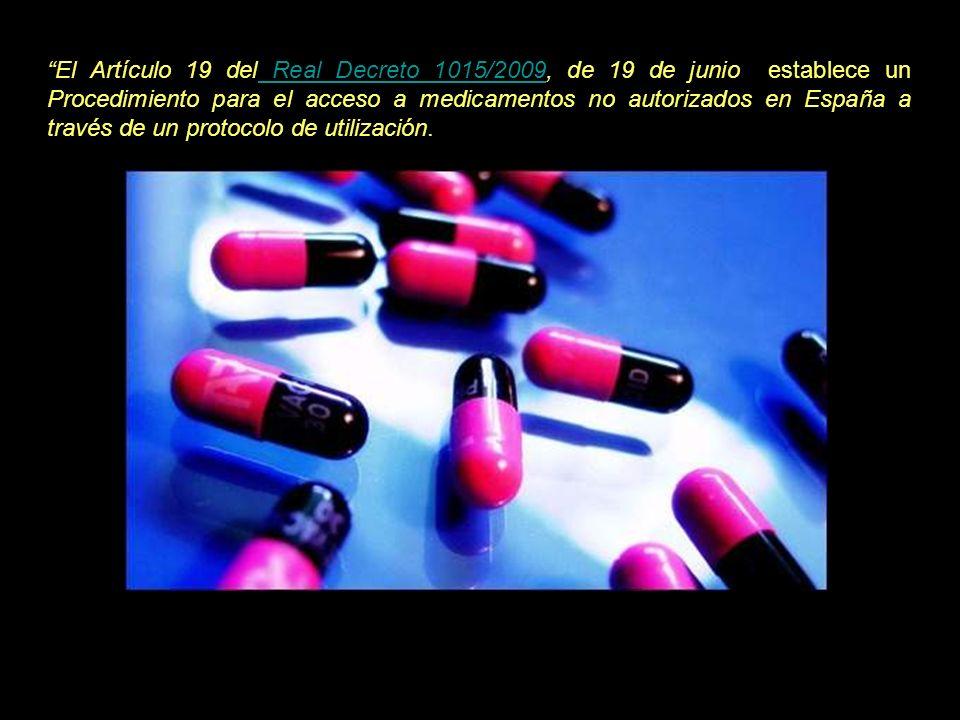 En el apartado 3 de dicho artículo, se posibilita la prescripción y aplicación de medicamentos no autorizados a pacientes no incluidos en un ensayo clínico con el fin de atender necesidades especiales de tratamientos de situaciones clínicas de pacientes concretos