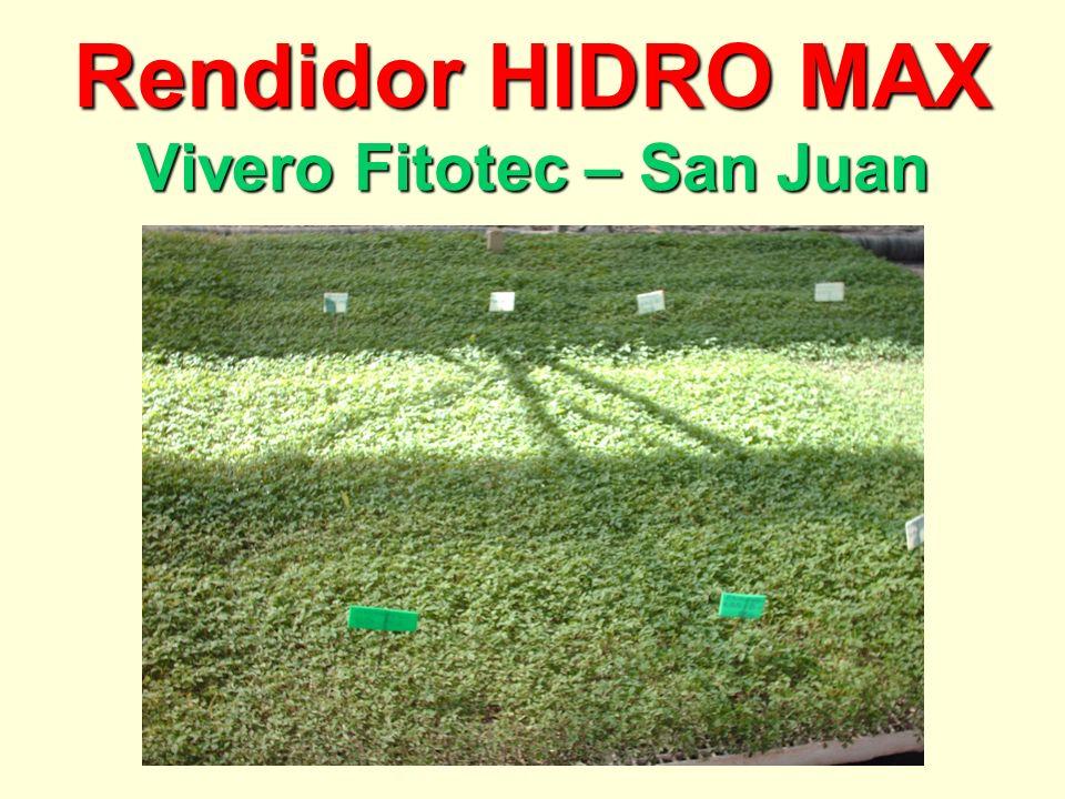 Rendidor HIDRO MAX Vivero Fitotec – San Juan