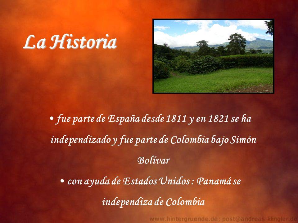 fue parte de España desde 1811 y en 1821 se ha independizado y fue parte de Colombia bajo Simón Bolívar con ayuda de Estados Unidos : Panamá se indepe