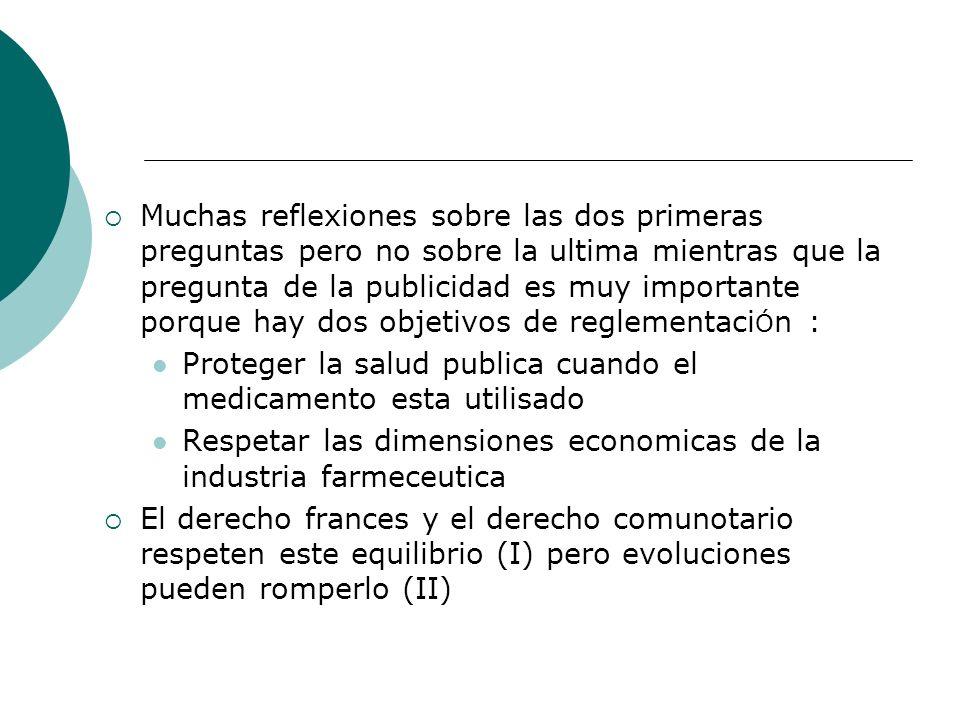 I- El equilibrio actual de la legislaci Ó n Dos puntos : El contenido de las normas (A) La justificaci Ó n de la normas (B)