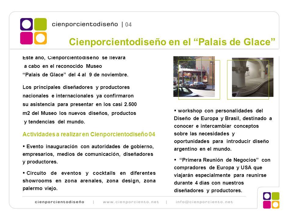 Cienporcientodiseño 2004 Contacto: Arq.Monica Cohen Luis Maria Campos 1001 piso 3 A (1426) Tel.