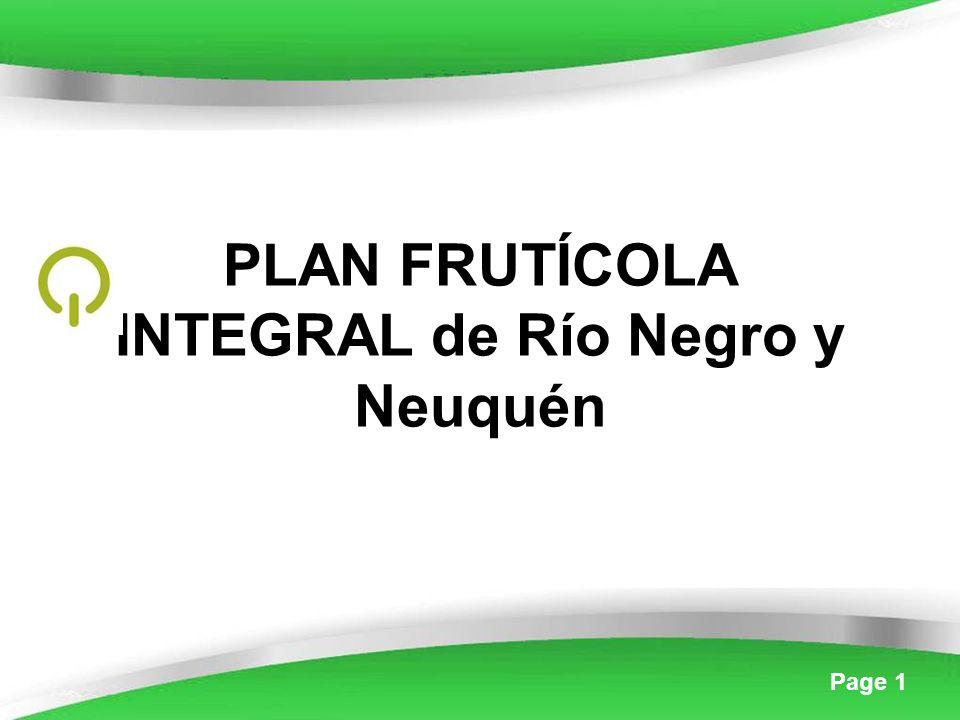 Page 1 PLAN FRUTÍCOLA INTEGRAL de Río Negro y Neuquén