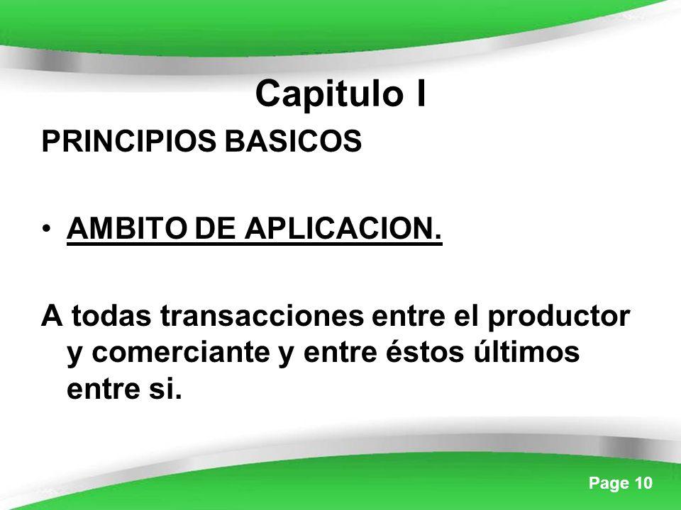 Page 10 Capitulo I PRINCIPIOS BASICOS AMBITO DE APLICACION.
