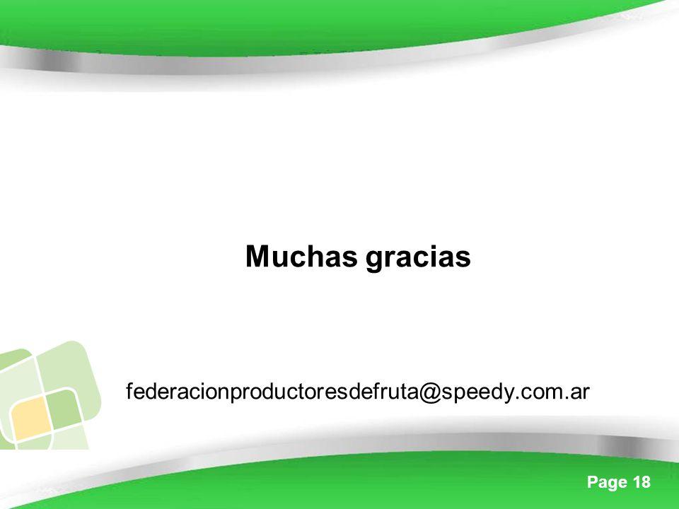 Page 18 Muchas gracias federacionproductoresdefruta@speedy.com.ar