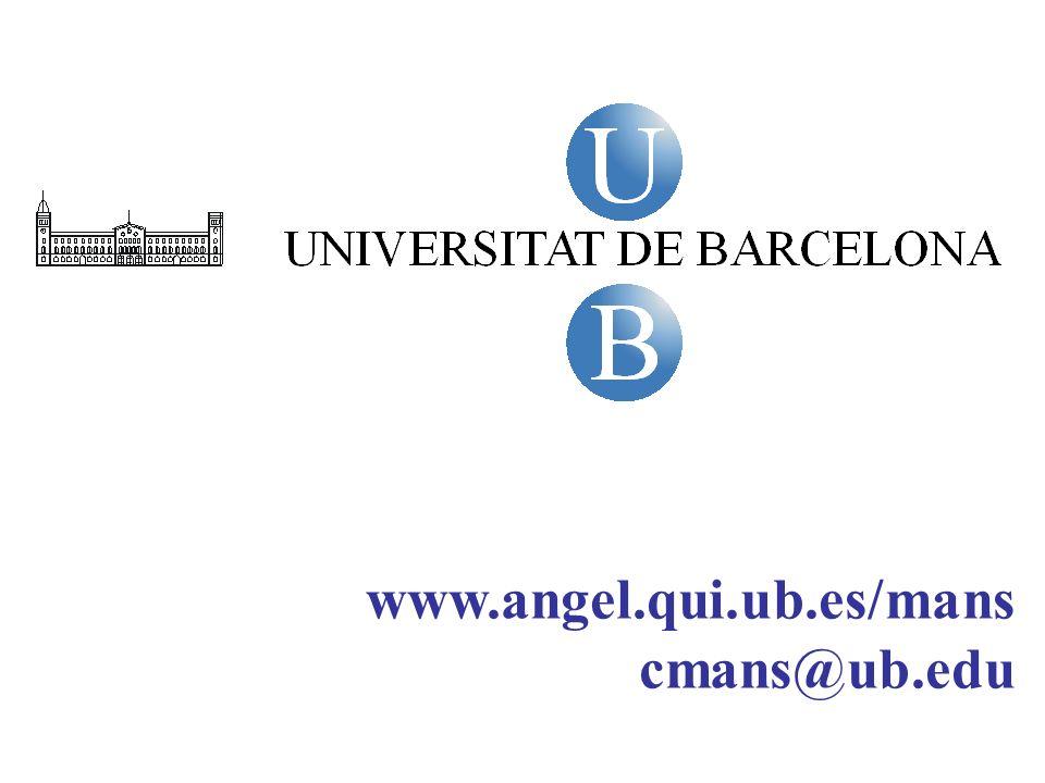 www.angel.qui.ub.es/mans cmans@ub.edu