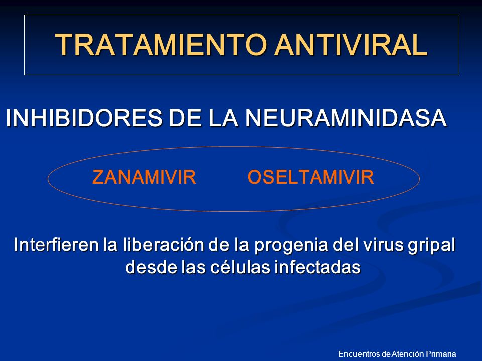 Encuentros de Atención Primaria INHIBIDORES DE LA NEURAMINIDASA Interfieren la liberación de la progenia del virus gripal desde las células infectadas