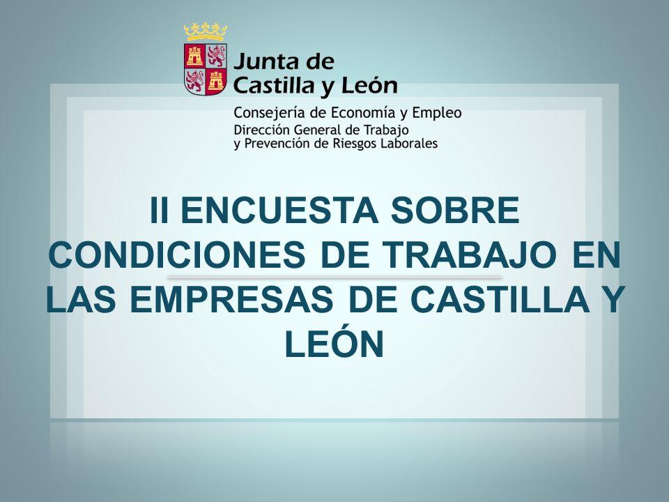 II ENCUESTA SOBRE CONDICIONES DE TRABAJO EN LAS EMPRESAS DE CASTILLA Y LEÓN