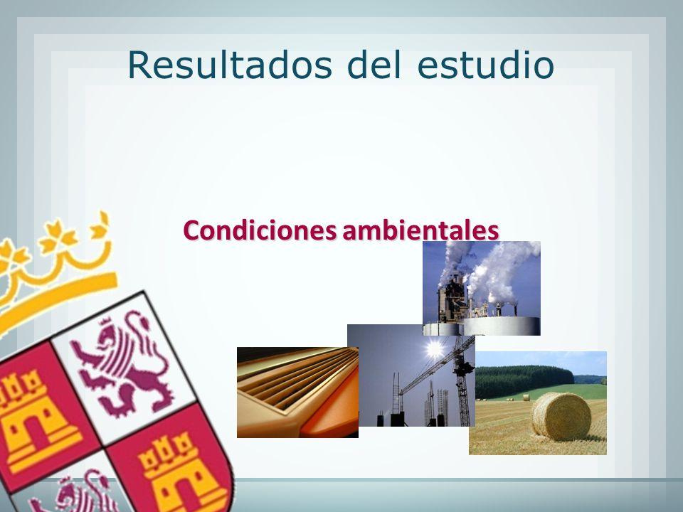 Condiciones ambientales Resultados del estudio