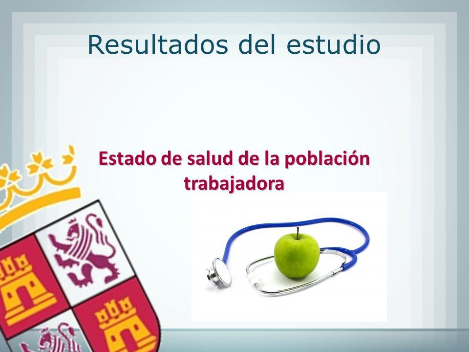 Estado de salud de la población trabajadora Resultados del estudio