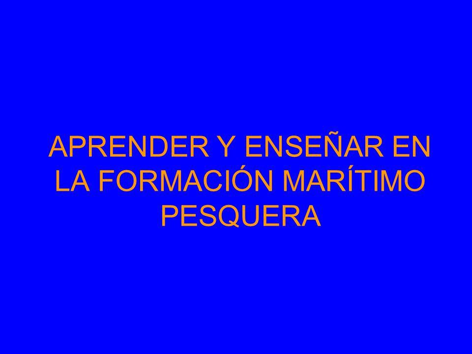 FORMACIÓN MARÍTIMO PESQUERA