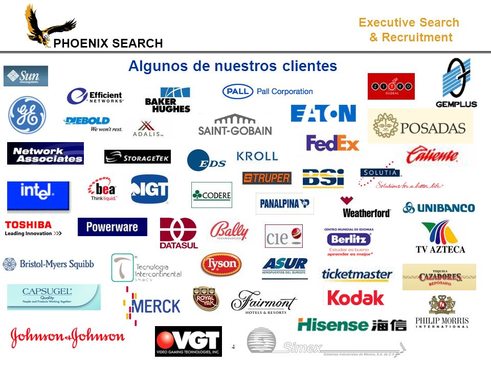 PHOENIX SEARCH Executive Search & Recruitment 4 Algunos de nuestros clientes