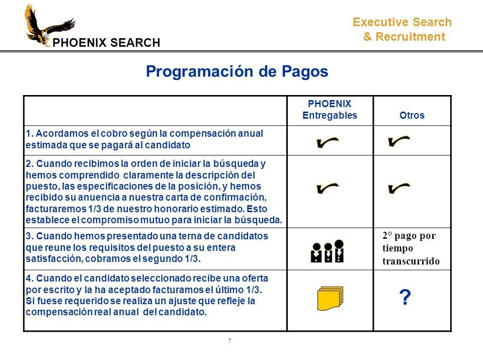 PHOENIX SEARCH Executive Search & Recruitment 8 Estamos comprometidos con lograr la satisfacción total de nuestros clientes.