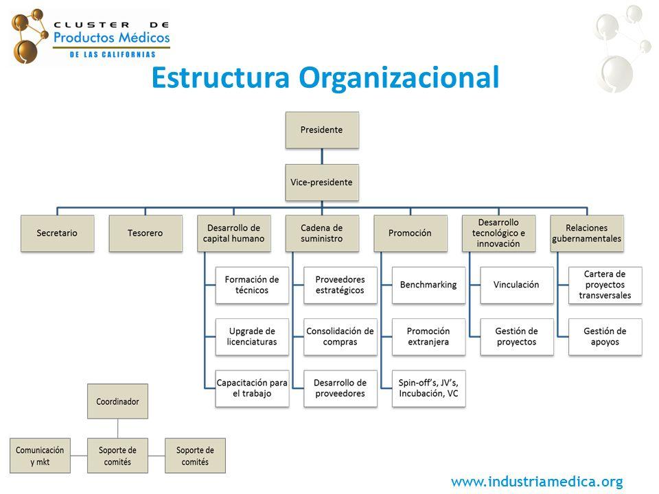 www.industriamedica.org Estructura Organizacional