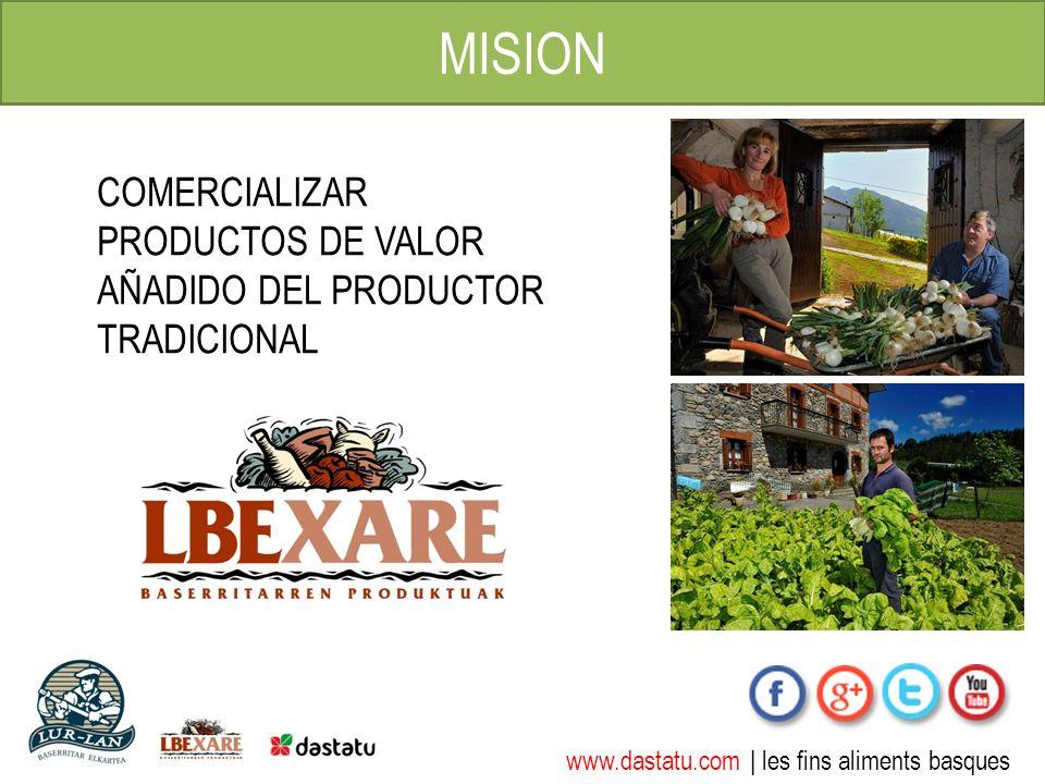 www.dastatu.com | les fins aliments basques MISION COMERCIALIZAR PRODUCTOS DE VALOR AÑADIDO DEL PRODUCTOR TRADICIONAL
