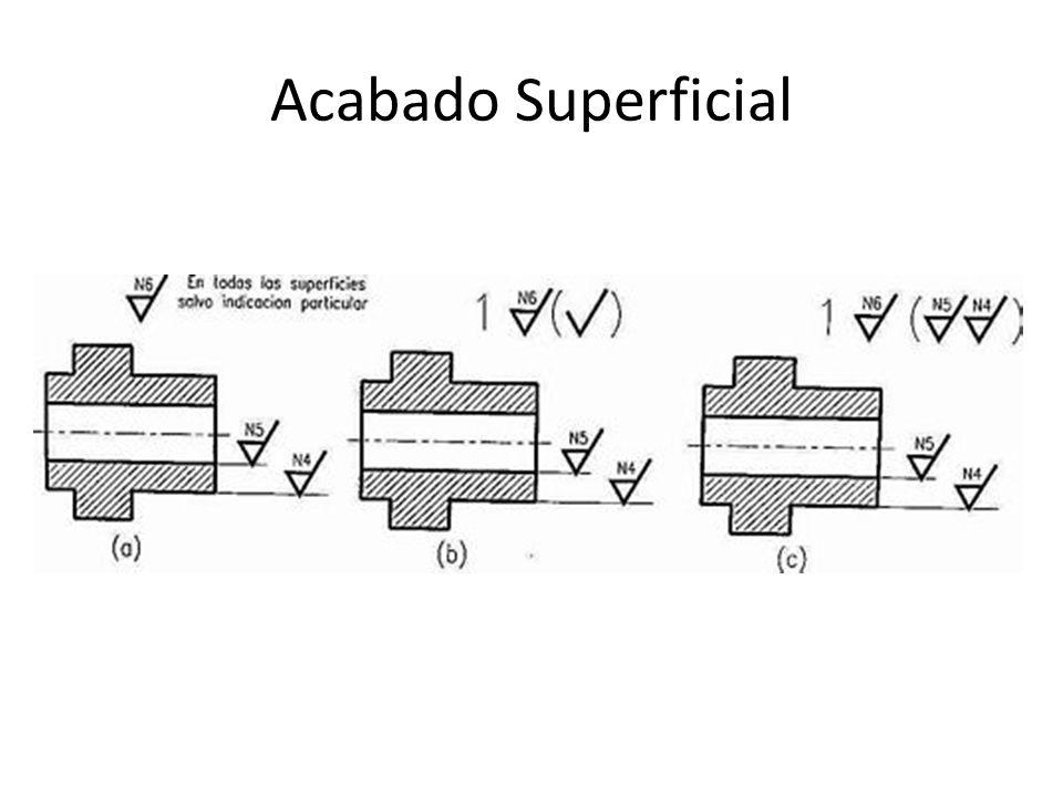 Las superficies que no deban ser mecanizadas según el símbolo de mecanizado general, llevarán sus propios símbolos de mecanizado.