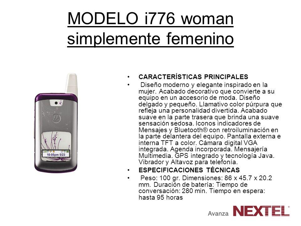 MODELO i776 woman simplemente femenino CARACTERÍSTICAS PRINCIPALES Diseño moderno y elegante inspirado en la mujer. Acabado decorativo que convierte a