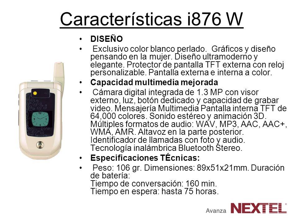 Características i876 W DISEÑO Exclusivo color blanco perlado. Gráficos y diseño pensando en la mujer. Diseño ultramoderno y elegante. Protector de pan