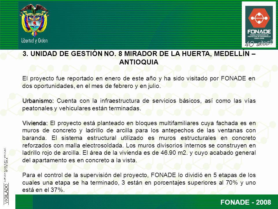 FONADE - 2008 3. UNIDAD DE GESTIÓN NO.