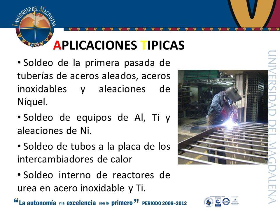 SOLDADURA GAS DE PROTECCION Procedimiento de soldadura (MIG*, TIG, PLASMA).