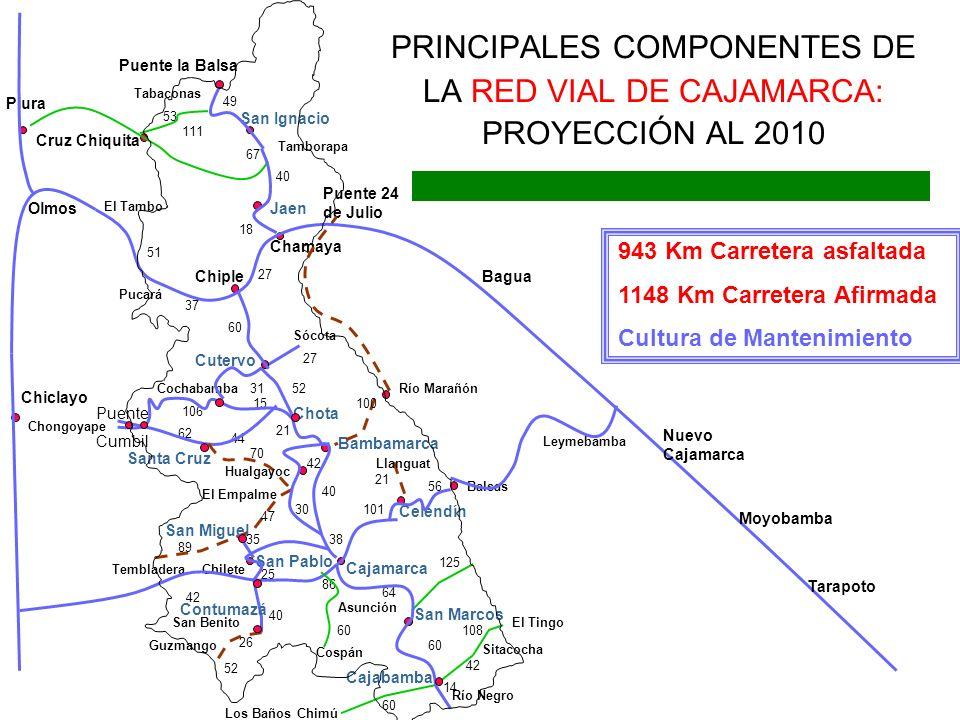 Chiple Jaen Tamborapa San Ignacio Puente la Balsa Cutervo Chota Santa Cruz Cochabamba Puente Cumbil Chongoyape Bambamarca Celendín Cajamarca San Marco