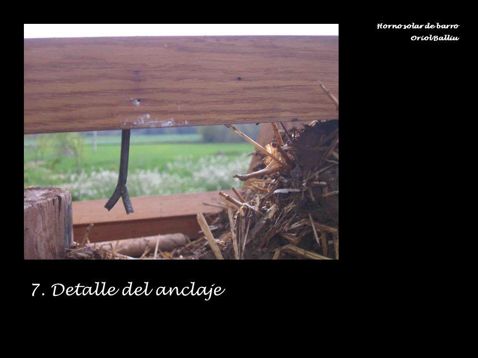 7. Detalle del anclaje Horno solar de barro Oriol Balliu