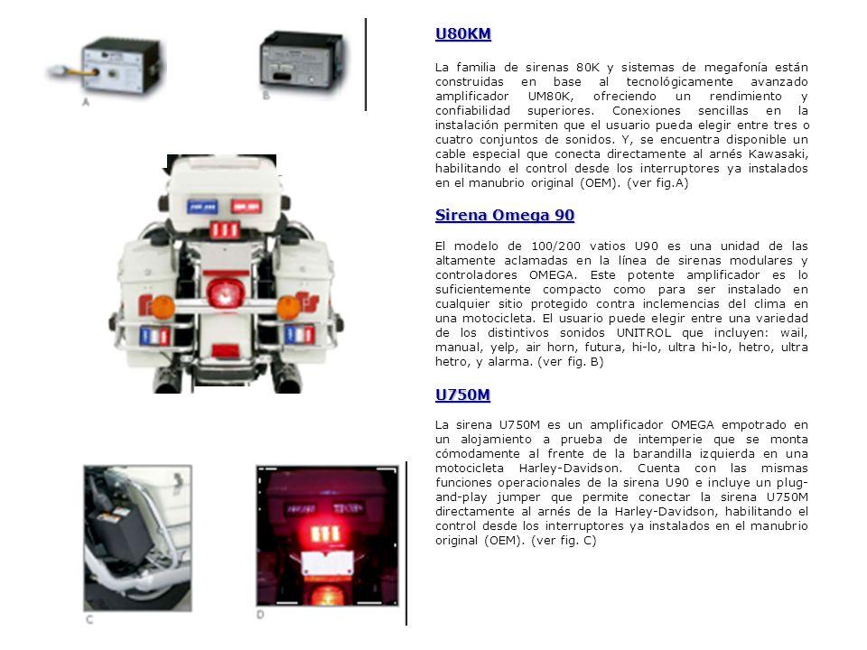 U80KM La familia de sirenas 80K y sistemas de megafonía están construidas en base al tecnológicamente avanzado amplificador UM80K, ofreciendo un rendi