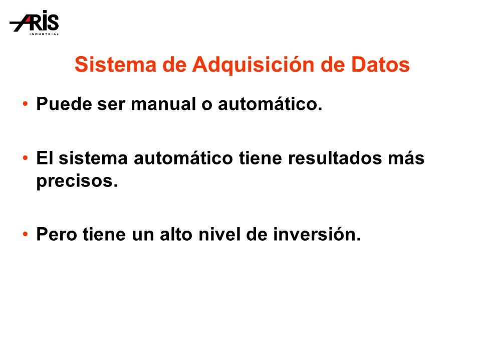Sistema de Adquisición de Datos Puede ser manual o automático.