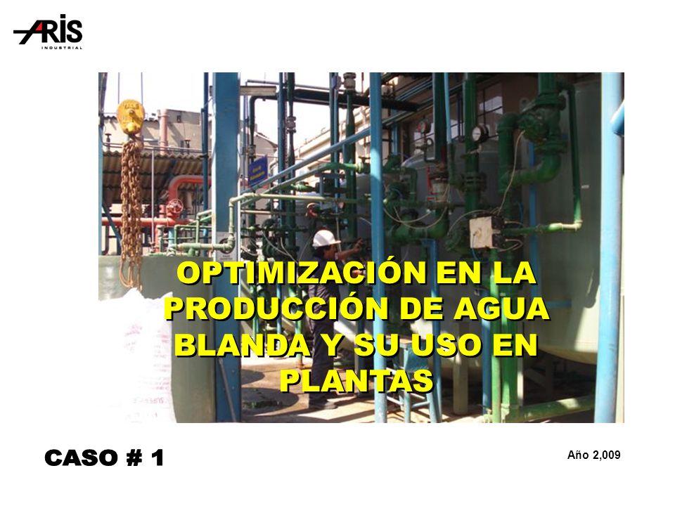 Año 2,009 OPTIMIZACIÓN EN LA PRODUCCIÓN DE AGUA BLANDA Y SU USO EN PLANTAS
