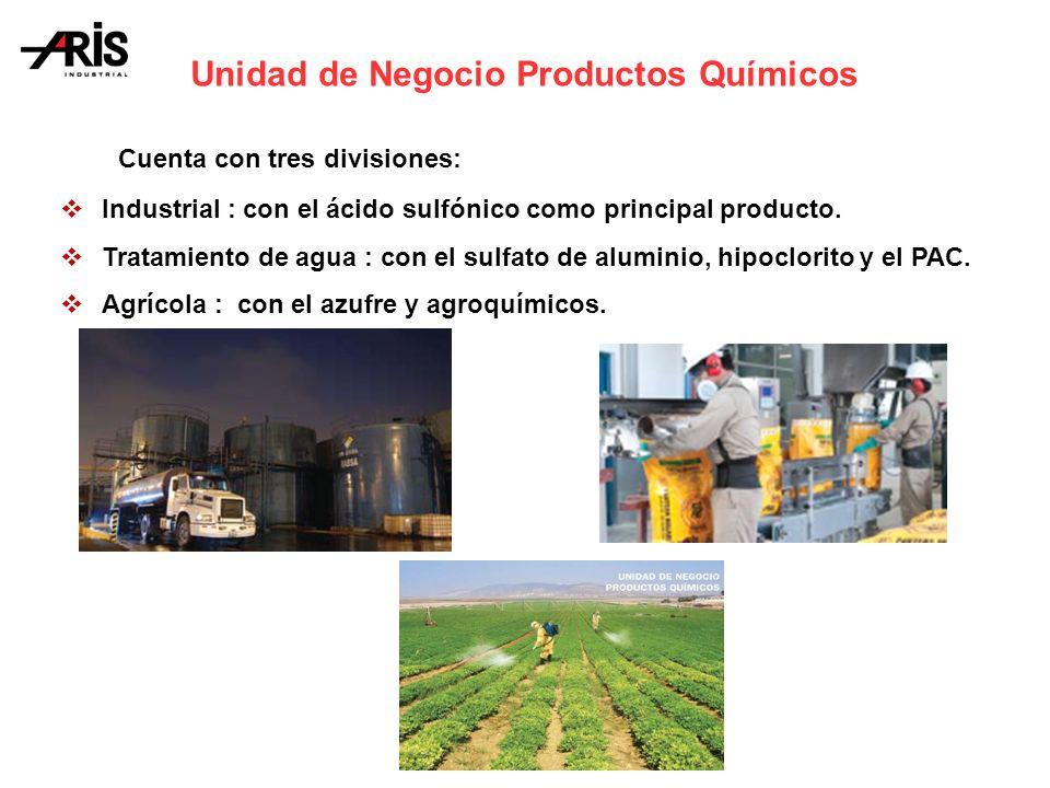Cuenta con tres divisiones: Industrial : con el ácido sulfónico como principal producto.