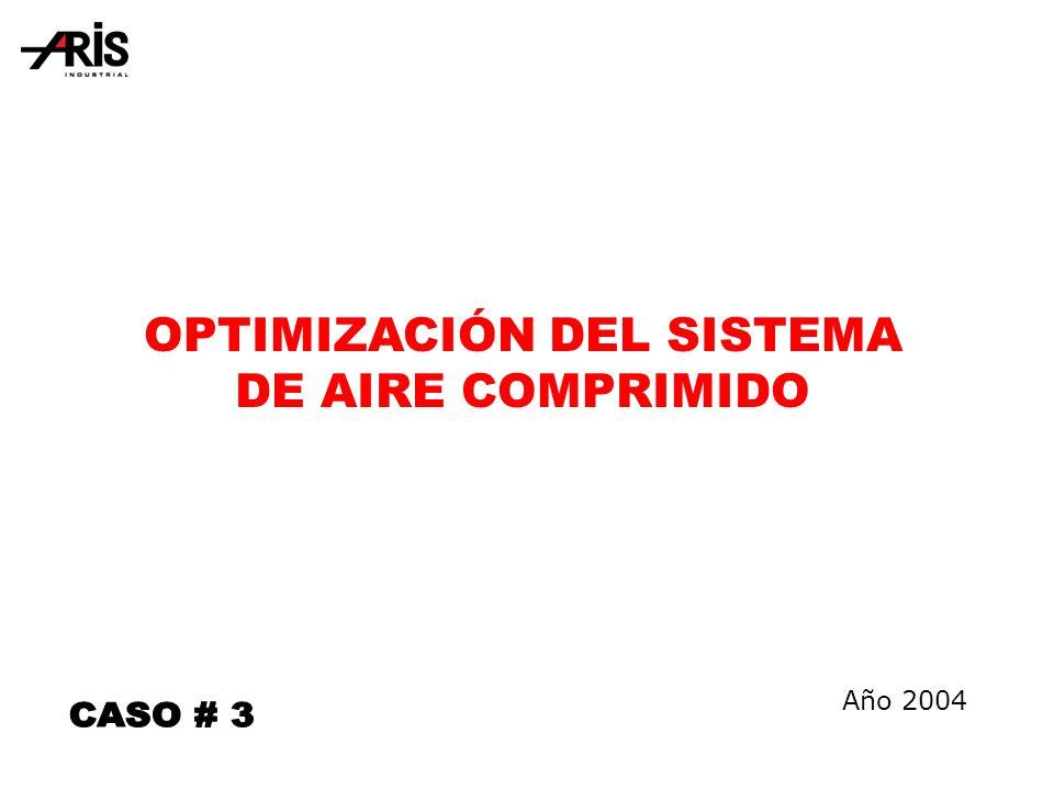 OPTIMIZACIÓN DEL SISTEMA DE AIRE COMPRIMIDO Año 2004