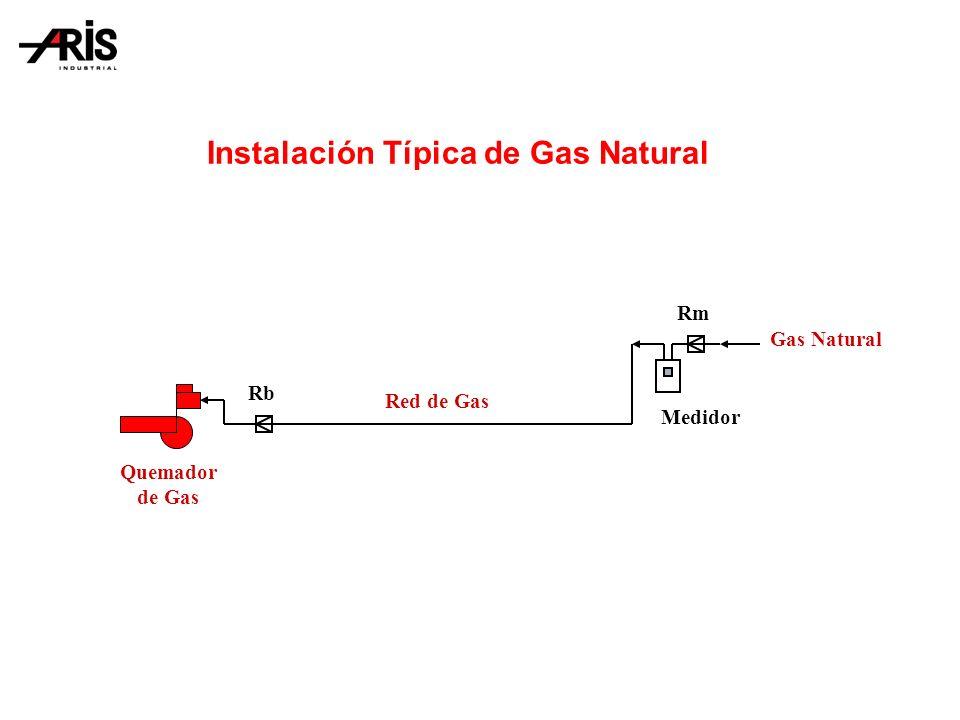Quemador de Gas Rb Rm Gas Natural Medidor Red de Gas Instalación Típica de Gas Natural
