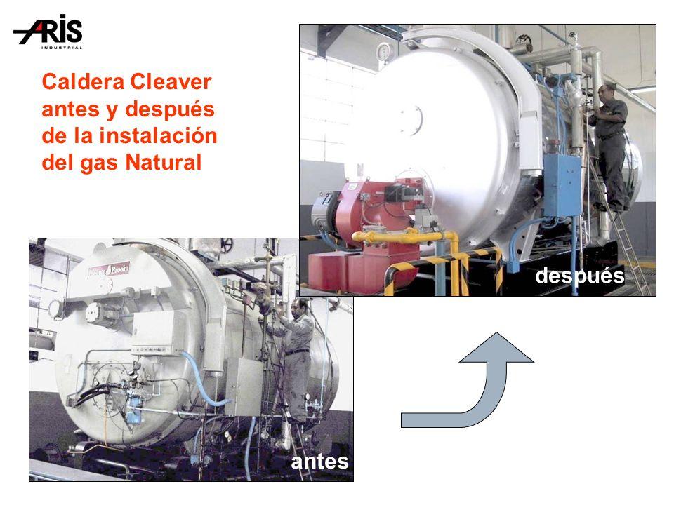 Caldera Cleaver antes y después de la instalación del gas Natural antes después