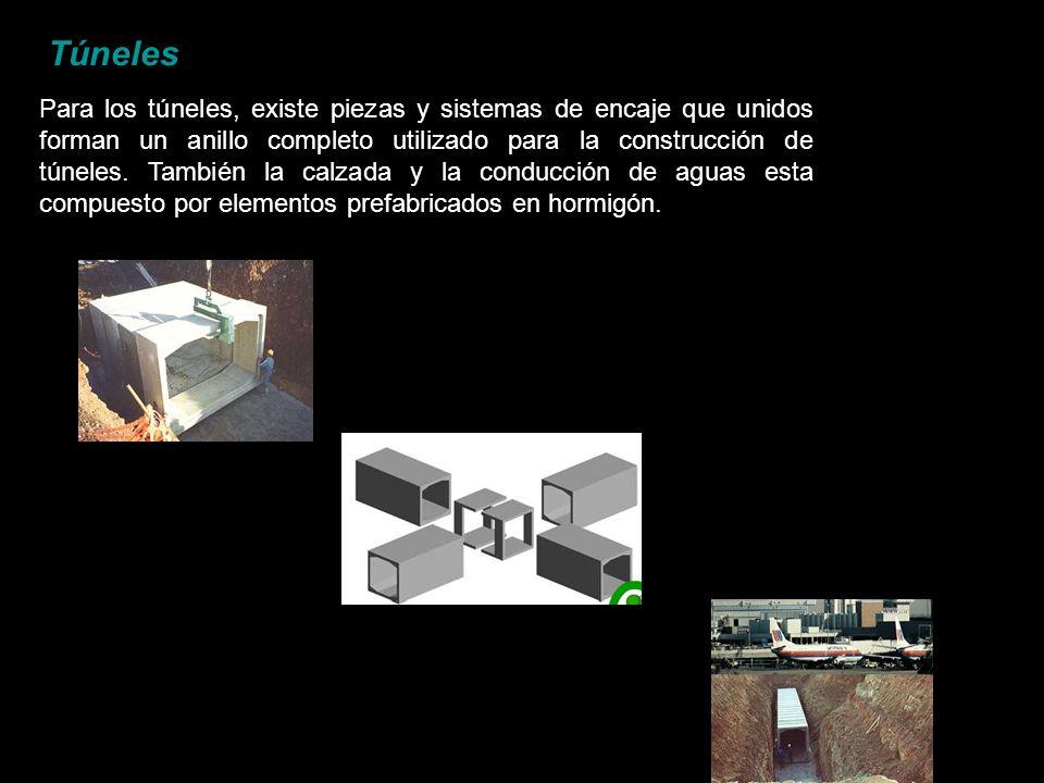 Túneles Para los túneles, existe piezas y sistemas de encaje que unidos forman un anillo completo utilizado para la construcción de túneles. También l