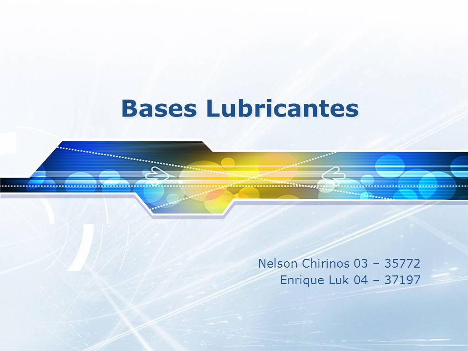 Agenda Lubricantes Características Principales Aspectos Generales de los Lubricantes Clasificación Función Bases Lubricantes Usos Procesos de Fabricación de Bases Lubricantes Desasfaltado.