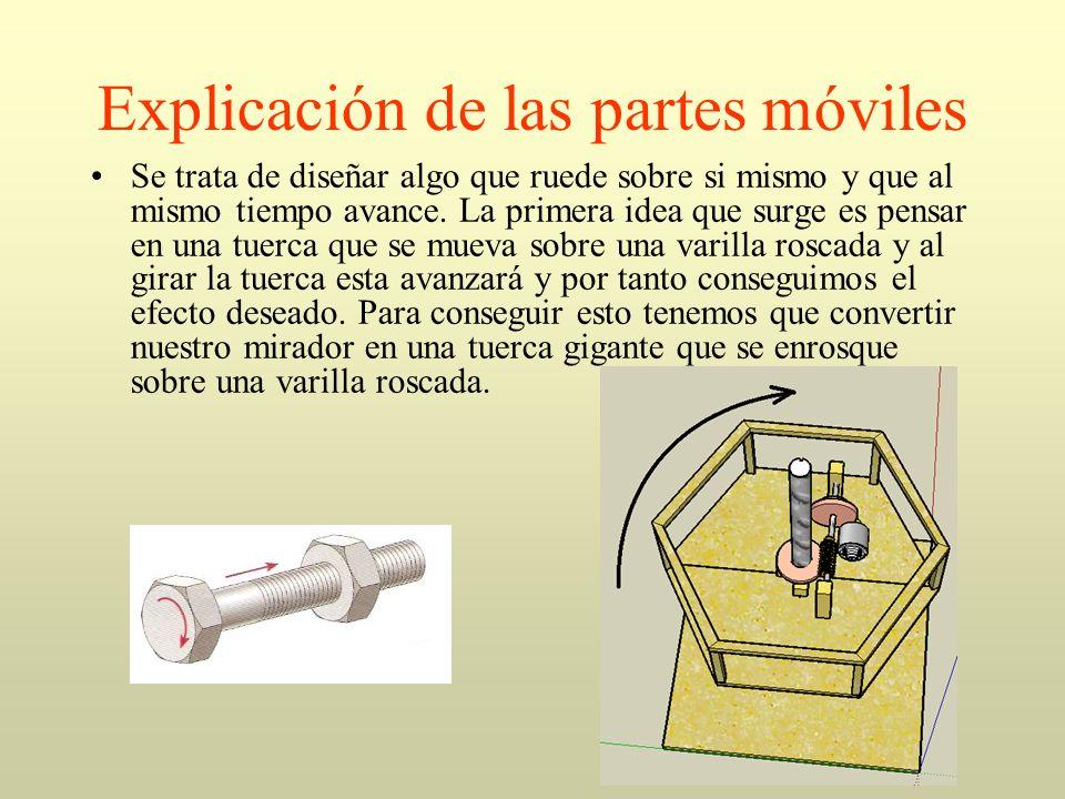 Explicación de las partes móviles Durante la fase de diseño y construcción van apareciendo diversos inconvenientes.