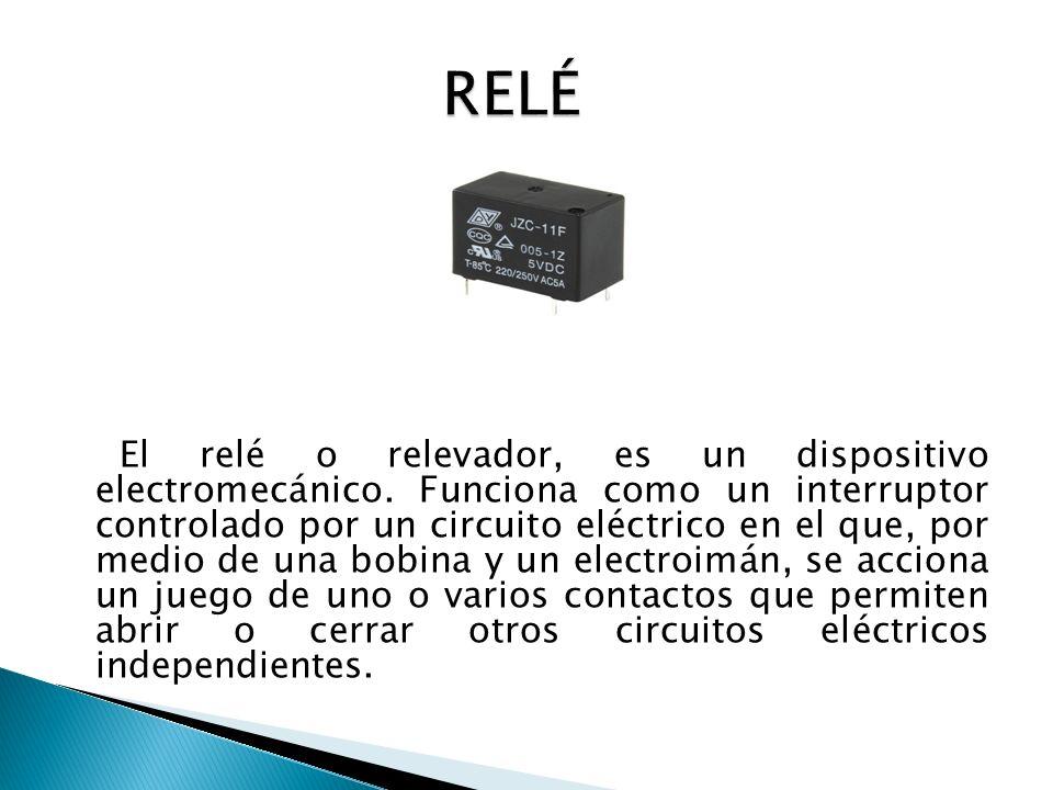 El relé o relevador, es un dispositivo electromecánico.