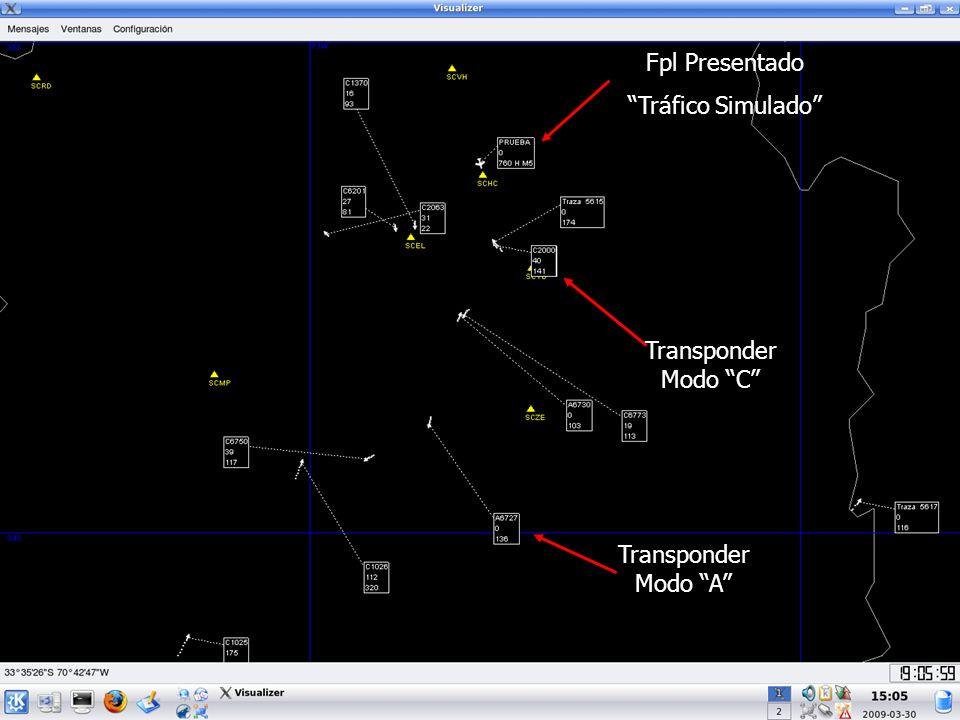 Transponder Modo C Fpl Presentado Tráfico Simulado Transponder Modo A