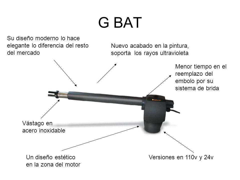 G BAT Un diseño estético en la zona del motor Nuevo acabado en la pintura, soporta los rayos ultravioleta Su diseño moderno lo hace elegante lo difere