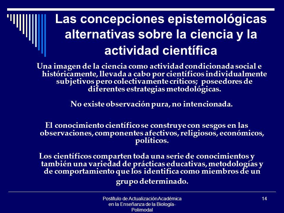 Postítulo de Actualización Académica en la Enseñanza de la Biología- Polimodal 14 Las concepciones epistemológicas alternativas sobre la ciencia y la