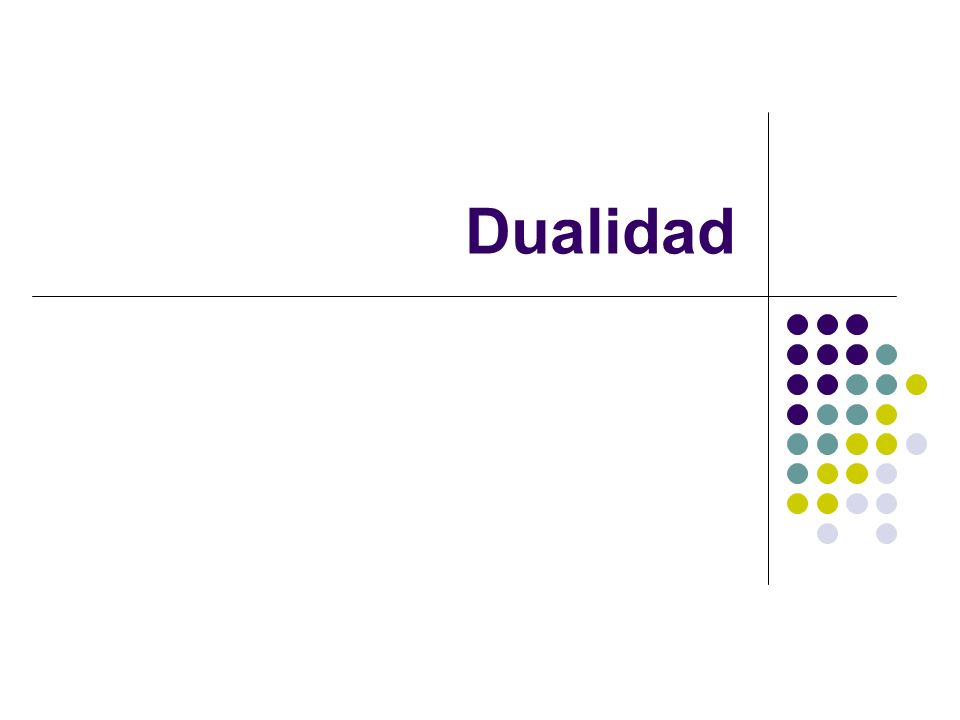 Dualidad